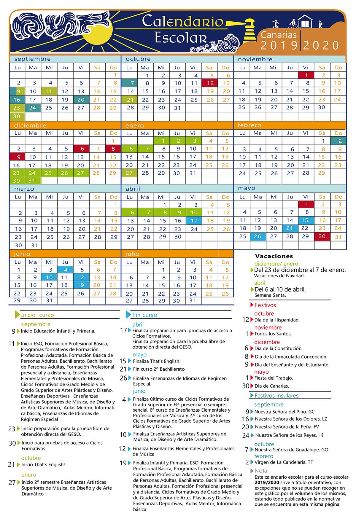 Calendario Escolar El Chikiplan